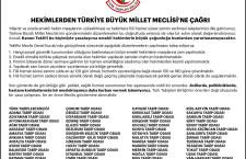 Hekimlerden Türkiye Büyük Millet Meclisi'ne Çağrı