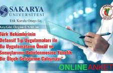 """Arş.Gör.Özgün ÜNAL'ın """"Türk Hekimlerinin Defansif Tıp Uygulamaları ile Bu Uygulamaların Öncül ve Sonuçlarının Belirlenmesine Yönelik Bir Ölçek Geliştirme Çalışması"""" isimli Online Anket"""