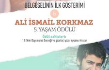 Ali İsmail Korkmaz 5. Yaşam Ödülü